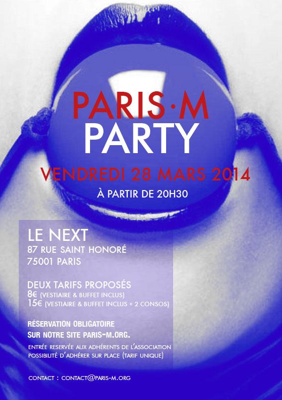 Flyer de la PariS-M Party du 28 Mars 2014