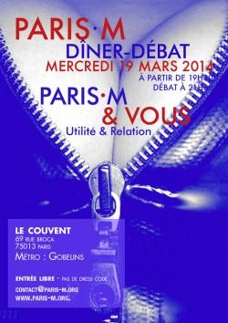 Flyer Dîner/Débat n°79 - PariS-M & Vous
